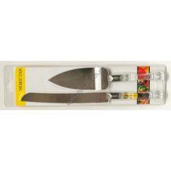 12891 (Лапатка +нож для торта и пице в подарочной упаковке)