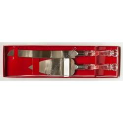 12891 (Лпатка +нож для торта и пице в подарочной упаковке)