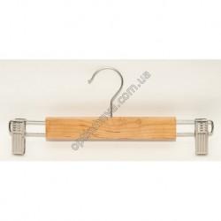 18445 (Вешалка деревяная с металическим зажимом 26см)
