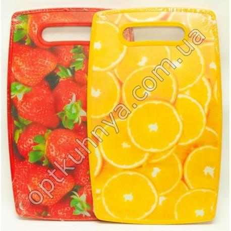 427 доска разделочная пласмасовая фрукты хорошое качество