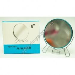 17306(Зеркало двухсторонее с металической оправой р/р 6 )