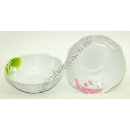 20164 (Меломиновая тарелка глубокая волнистая диаметр 20см а глубина 7см)