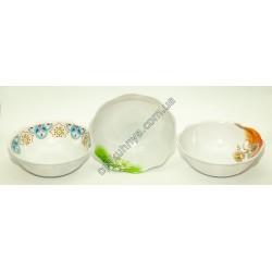 20134 (Меломиновая тарелка глубокая волнистая диаметр 12см а глубина 4см)