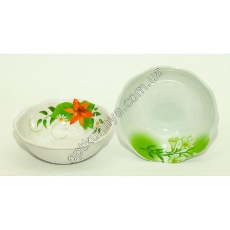 20154 (Меломиновая тарелка глубокая волнистая диаметр 18см а глубина 5см)