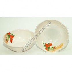 20144 (Меломиновая тарелка глубокая волнистая диаметр 16см а глубина 5см)