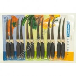 21341 (Набор фруктовых ножей ТРАМАНТИНА на листе 12 шт с пилочной лезвии)