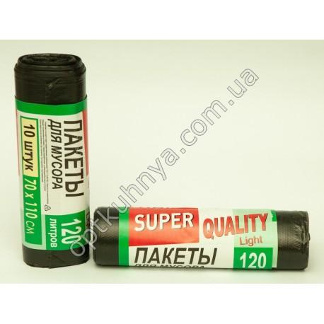 32433 ( Пакеты для мусора 120 л. (70*110 см) SUPER QUALITY)
