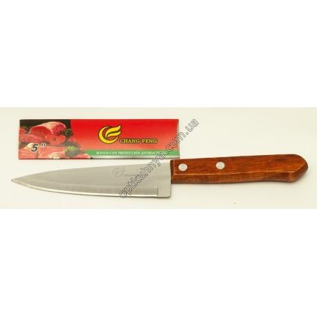 23191 (Нож кухонный с деревянной ручкой малиньки)