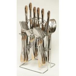 12722 ( Набор столовых приборов на подставке (ложка, вилка, чайная ложна, нож по 6 шт.))