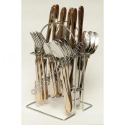 12672 ( Набор столовых приборов на подставке (ложка, вилка, чайная ложна, нож по 6 шт.))