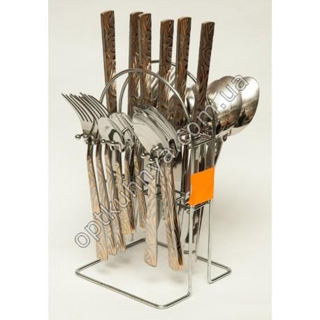 12622 ( Набор столовых приборов на подставке (ложка, вилка, чайная ложна, нож по 6 шт.))