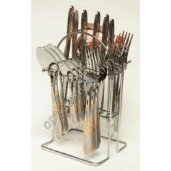12182 ( Набор столовых приборов на подставке (ложка, вилка, чайная ложна, нож по 6 шт)