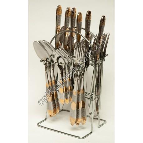 12572 ( Набор столовых приборов на подставке (ложка, вилка, чайная ложна, нож по 6 шт.))