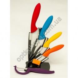 12481 (Набор цветных керамических ножей 4 шт+экономка)
