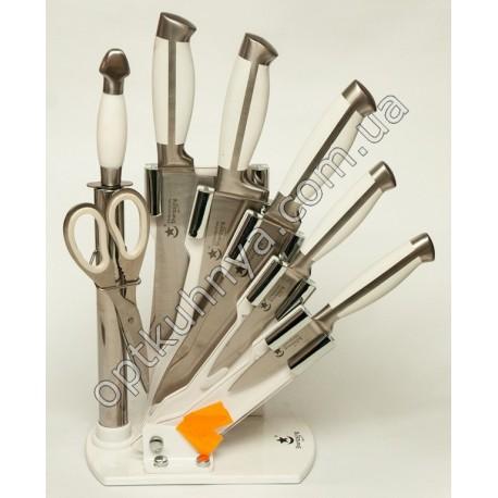 831 (Набор ножей на подставке стал 5 шт+ножницы +муссат)