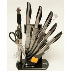 12511 (Набор ножей на подставке стал 5шт +муссат +ножницы)